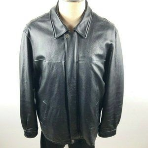 Wilsons Leather Black Jacket Thinsulate Zip Lining